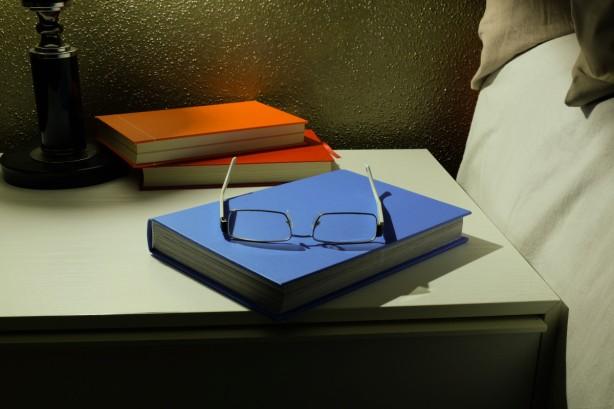books in bedroom